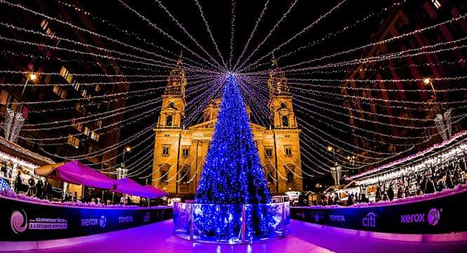 Vánoční trhy v Budapešti